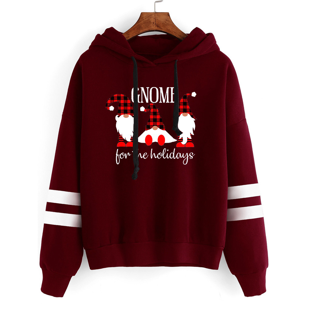 Christmas Holidays Girl Fashion Woman Clothes Plus Size Sweatshirt Women Harajuku Hoodies Print Pullovers Casual 2019