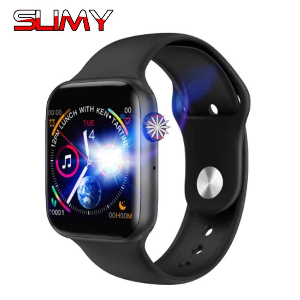 Slimy W34 ECG Smart Watch for Men Women Support Bluetooth Call Heart Rate Pedometer Smartwatch For Apple Watch Series 4 IWO 10