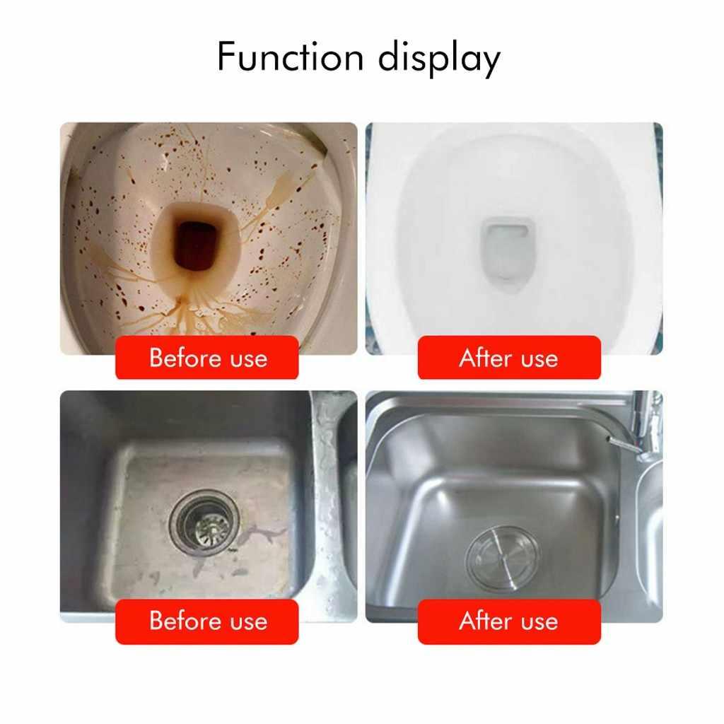 280ml szybka pianka czyszcząca cząstki tlenu toaleta zlew rury podłogowe Bubble czyszczenie proszku magiczne akcesoria łazienkowe do domu 64P