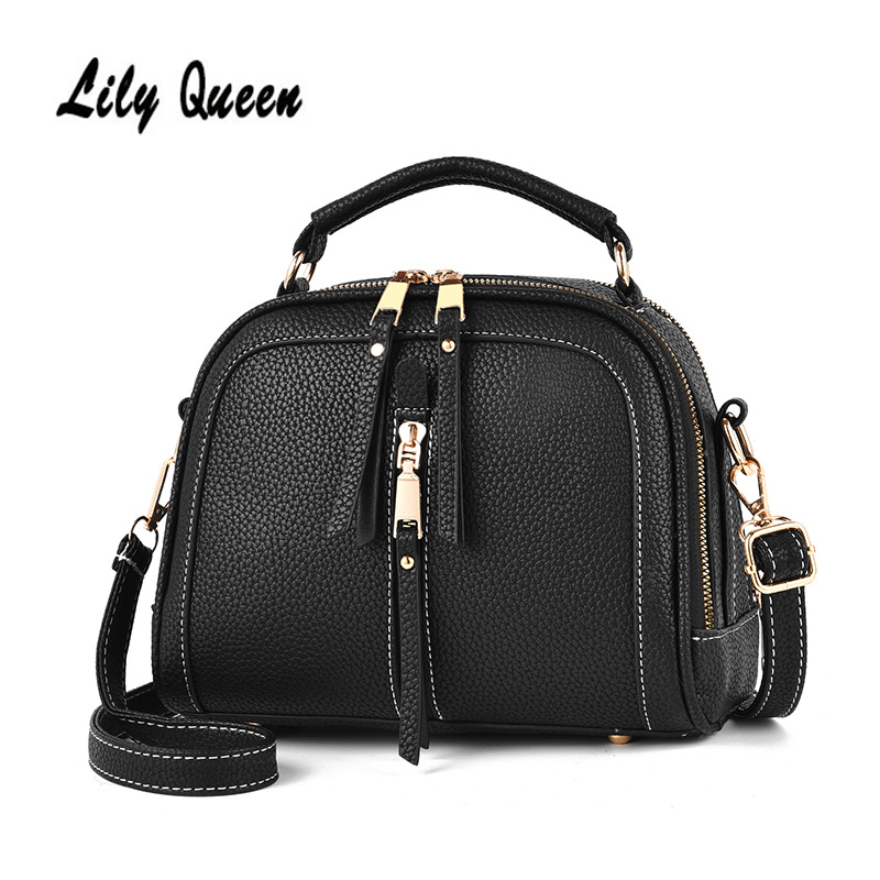 LILY QUEEN Small Crossbody Bag  Ladies Handbag Solid PU Leather Bags For Women Crossbody Bags For Women Messenger Bag