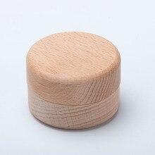 Pequeña redonda y de madera caja de almacenamiento de joyería hecha a mano organizador jabón caja para manualidades Vintage decorativo Natural caja artesanal para joyería