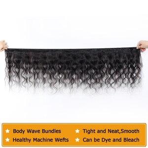 Image 3 - Indisches Haar Körper Welle Bundles 100% Menschliches Haar Bundles Webart Indische Körper Welle Remy Haar Extensions Weave 8 28 zoll QT Haar