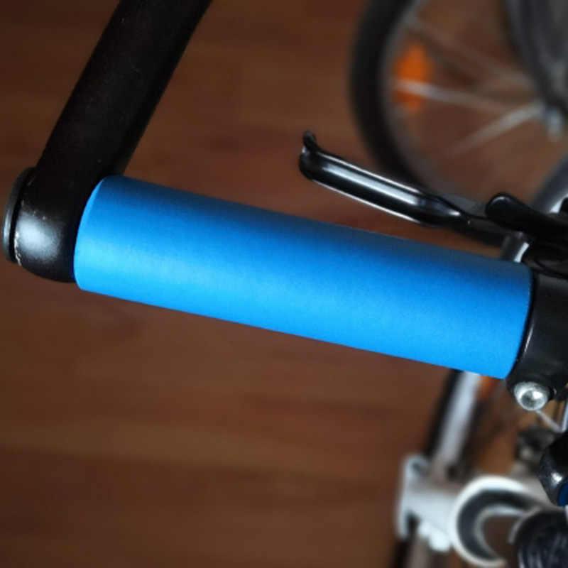 Ultralight Sepeda Stang Genggaman Busa Silikon Anti-Selip Shock-Absorbing Tinju MTB ROAD Sepeda Bersepeda Grip Pegangan Sepeda bagian