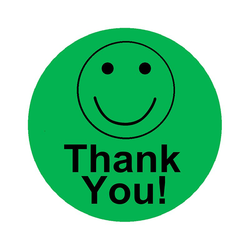 Colorful Smiling Face Thank You Stickers Scrapbooking 500pcs 2 Inch Round Party Favors Label Stickers Rolls Stationery Stickers Assorted Stickers Aliexpress