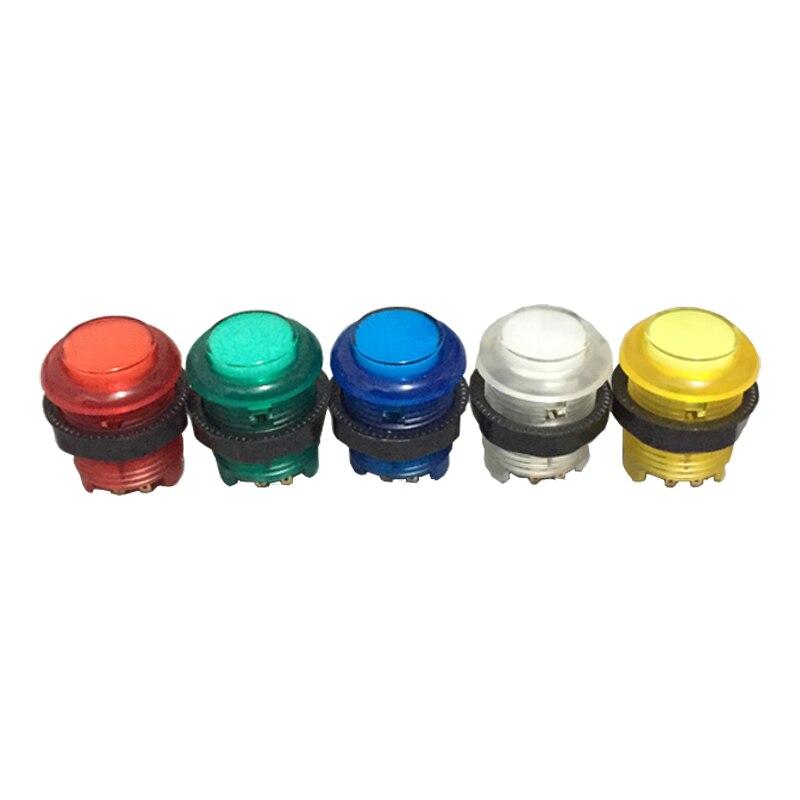 Аркадный 5V освещенный светодиодный кнопочный винтовой Тип со встроенным светодиодный светильник микро-переключатель HAPP стиль для MAME 5 цвет...