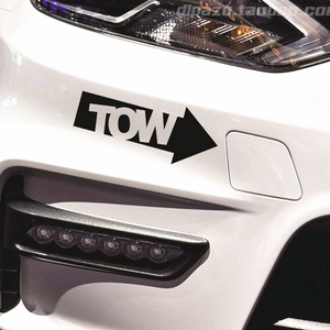 Image 2 - 1 PC ใหม่ Auto TOW Hook Arrow Decal สติกเกอร์รถไวนิล Race Drift Stance Illest 240sx TRACK