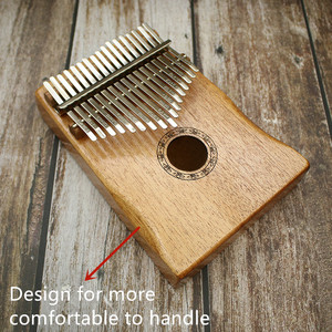 Image 4 - 17 Key Kalimba African Solid Pine Mahogany Thumb Finger Piano Sanza Mbira Calimba Play with Guitar Wood Musical Instruments