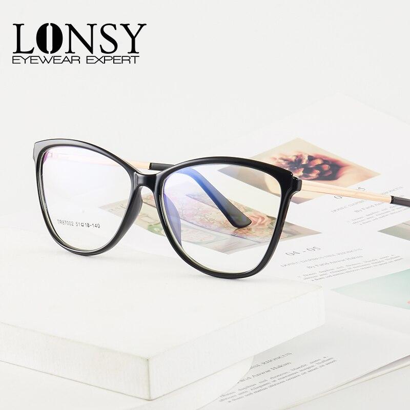 Оправа для очков близорукости lonsy мужчин и женщин модные квадратные