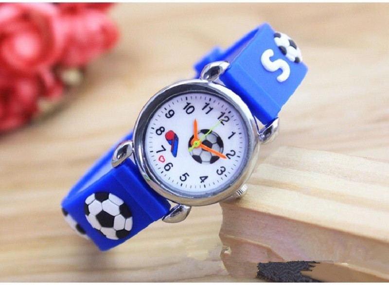 3D Cartoon Silicone Football Kids Watch Children For Girls Boys Students Clock Child Quartz Wristwatches Relogio Kol Saati Clock
