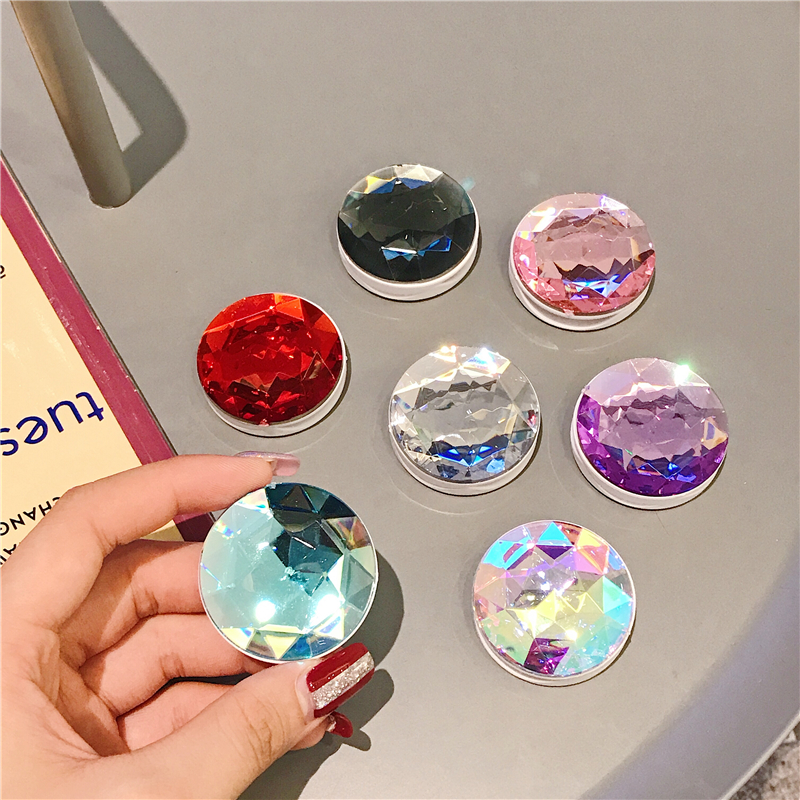 Universal Phone Holder Colorful 3D Gem Popular Ring Expanding Stand Finger Bracket Base Finger Top Support Mobile Phone Socket