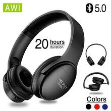 Bluetooth наушники AWI H1 Pro, беспроводные наушники с шумоподавлением Hi Fi, игровая гарнитура с шумоподавлением и микрофоном, поддержка TF карт