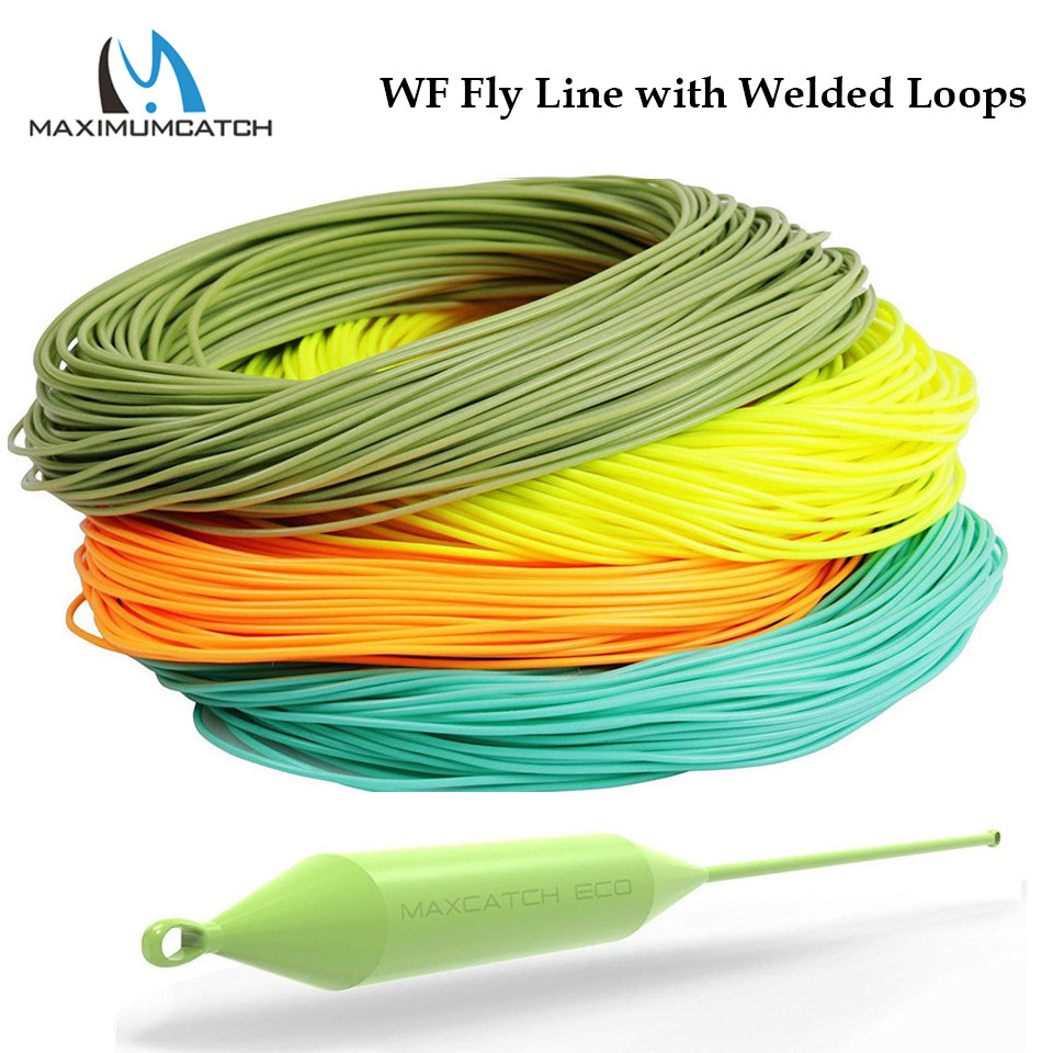 Maximumcatch WF1F-WF8F WITH WELDED LOOP Fish Line Weight Forward FLOATING 100FT Fly Fishing Line