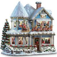 100% volle 5D Diy Daimond Malerei Weihnachten Haus 3D Diamant Malerei Runde Strass Diamant Malerei Stickerei Geschenk