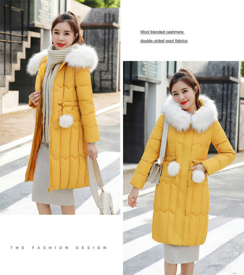 Plus size winter coat women padded cotton hooded women long jacket outwear slim white warm vintage female parka new 2019 DR1195 (12)