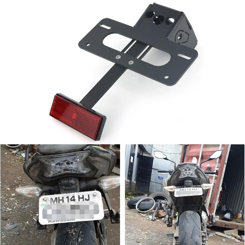 Ninja 650 2017 2018 2019 Motorcycle Fender Eliminator license plate mount Fit for Kawasaki Z650 Black