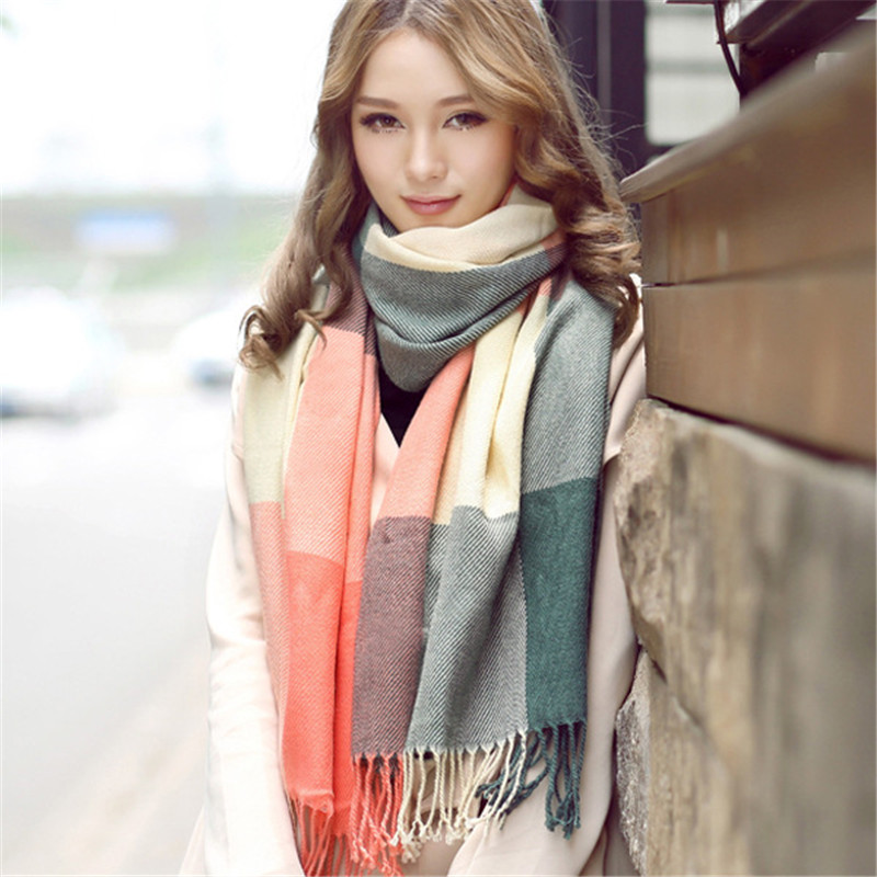 2019 Multi-style Cashmere Plaid Winter Scarf Ladies Long Warm Wool Pashmina Wrap Female Foulard Elegant Shawls Capes Femme Sjaal
