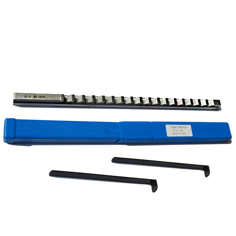 Feito sob Medida com Shim Ferramenta de Perfuração Push-tipo Métrico Corte Groove Keyway Broach Broaches Conjunto Chave Ferramentas 10mm d Hss Mod. 134004
