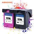 2 шт. 122XL чернильный картридж совместимый для картриджей HP 122 XL для HP Deskjet 1510 2050 1000 1050 1050A 2000 2050A 2540 3000 3052A