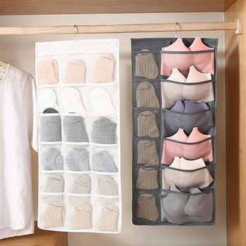 Wielofunkcyjna składana torba do przechowywania odzieży przezroczysta torba do zawieszenia skarpetki biustonosz bielizna wieszak do przechowywania Organizer na torby do szafy tanie i dobre opinie Włókniny tkaniny