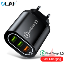 OLAF 18W Quick Charge 3.0 3 Port USB Charger QC3.0 Fast for Samsung S10 Xiaomi Redmi Note 7 iPhone X Wall Phone Chargers