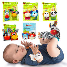 Baby Toys 0 12 Months Stuffed Toys Animal Baby Socks Rattles Wrist Baby Rattles Newborn Toys Make Sounds Rattle Toys For Babies
