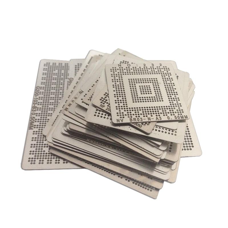 Laptop Intel Chip 50 Pcs /set Bga Reballing Stencil Tample Kit