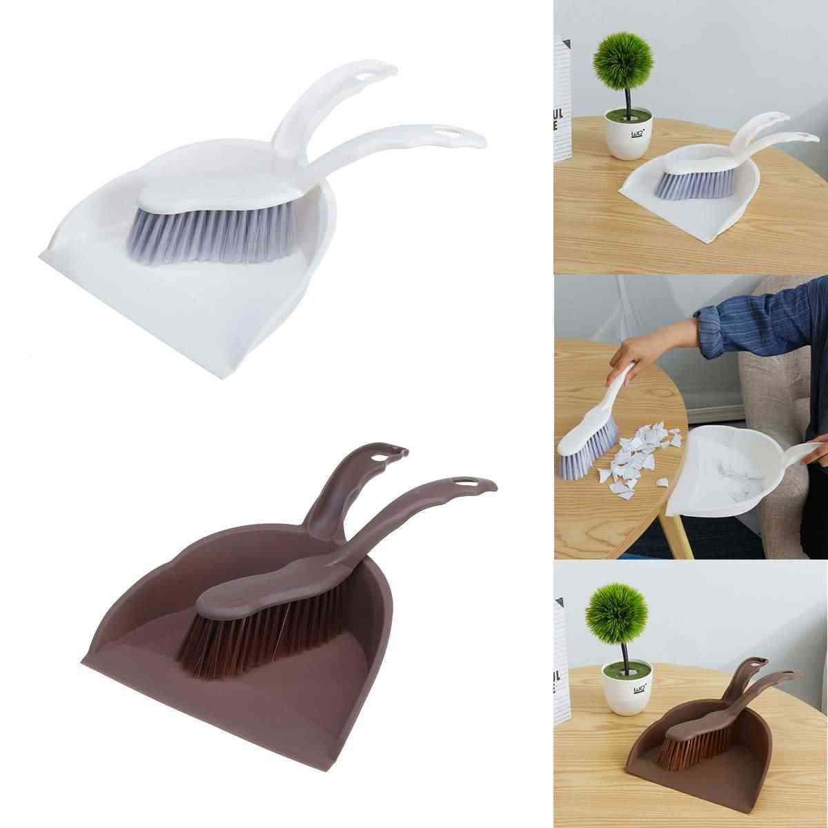 Mini Sweeping Brush Cleaning Small Broom Pan Set Home Office Table Cleaning  Tools Desk Portable Dustpan Shovel Brush Set