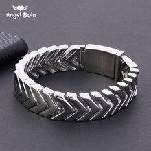 Boeddha Armband Met Logo Horloge Band Pijl Armband Heren Dames Polsband Bangle Link Chain Rvs Tone 18Mm