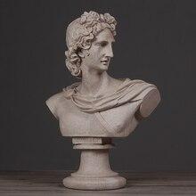 Home-Ornaments Sculpture Statue Crafts Figure Sandstone Apollo-Head Creative Nordic Modern