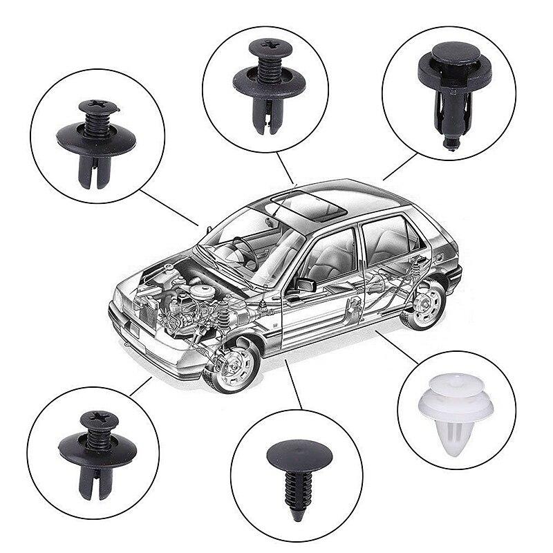 Image 5 - 6 sizes 100pcs Fastener Clip Mixed Car Body Push Retainer Pin Rivet Bumper Door Trim Panel Retainer Fastener Kit-in Auto Fastener & Clip from Automobiles & Motorcycles