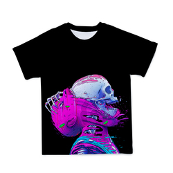 Summer New Style 3D Men's Anime T-shirt Costume Ghosts And Gods Punk Style O-neck Short Sleeve Large Size 110-6XL (Customizable)