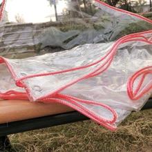 Garden Rain-Tarpaulin Waterproof Plastic Cloth And 1pc Sunscreen Transparent Thickened