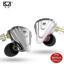 KZ ZSX 5BA + 1DD 12 Einheit Terminator Hybrid Metall In-Ohr Kopfhörer HIFI Headset Musik Sport Ohrhörer Für ZS10 Pro ZAX ASX EDX Z1 S2