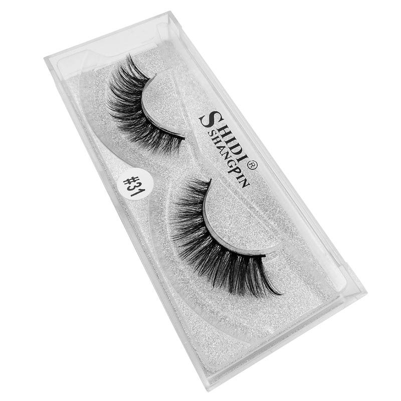 YSDO 1 pair false eyelashes 3D mink lashes faux cils fake lashes natural long eyelashes 100 hand made false make up eyelashes in False Eyelashes from Beauty Health