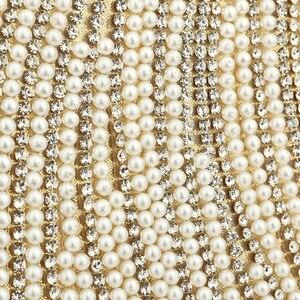Image 3 - 女性のイブニングバッグダイヤモンドラインストーンクラッチクリスタル日レディ財布結婚式の財布パーティー宴会シルバーハンドバッグクラッチ