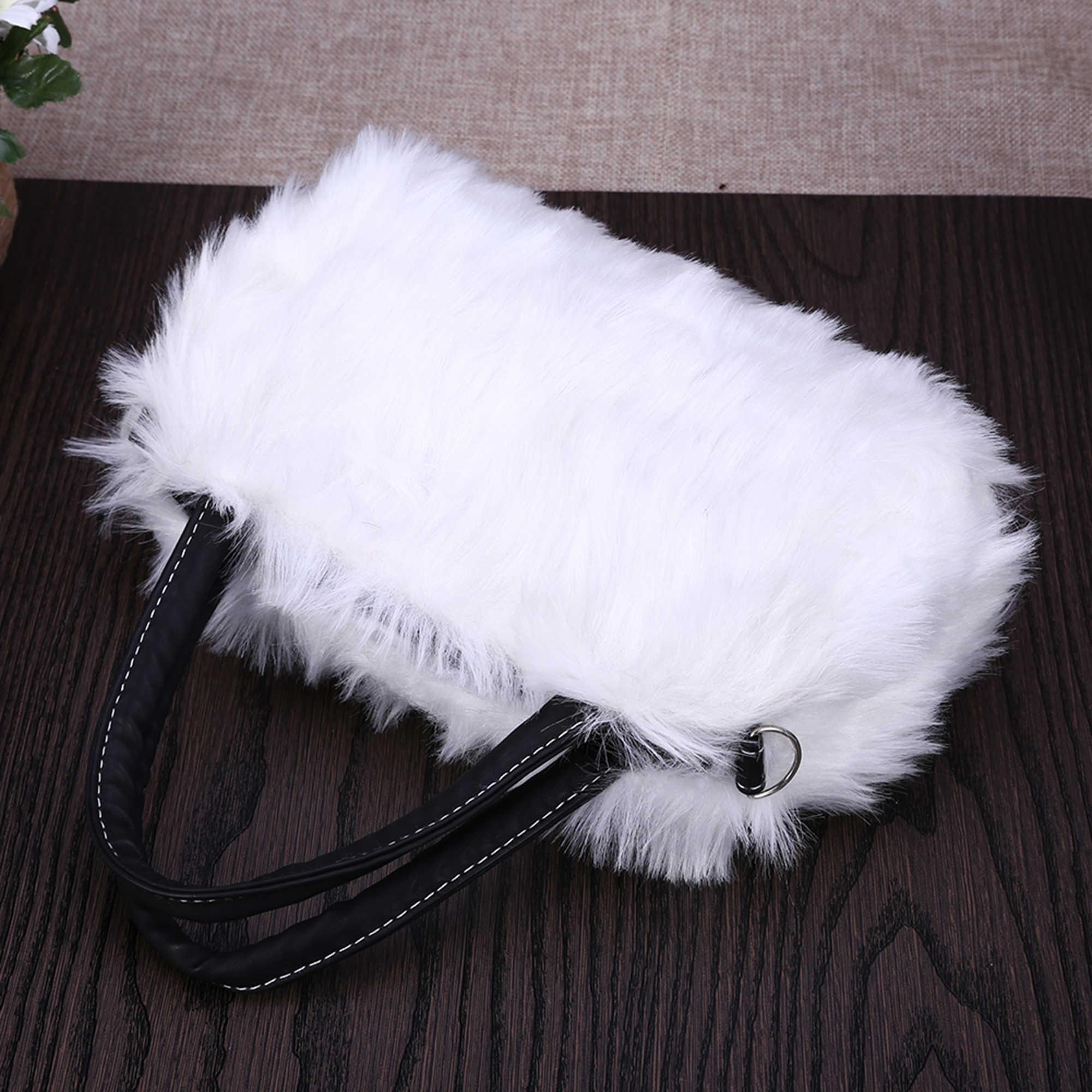 Bolsos de lujo para mujer, bolso de piel de conejo de imitación de diseñador, Mini bolso de mensajero para mujer, Bolso bandolera de Invierno para mujer, bolso colgante