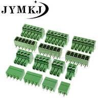 10 conjuntos kf2edg/15edg 3.81 pluggable conector de bloco terminal rc2erck 3.81mm passo plug + pino encabeçamento soquete 2/3/4/5/6/7/8/9/10 pinos