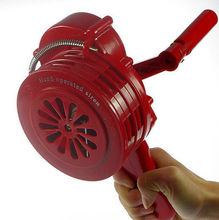 1 x Hand Crank Operated Emergency Alarm Siren Sound Rating 110db ABS new safurance green aluminium alloy crank hand operated air raid emergency safety alarm siren home self protection security