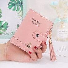 Кисточкой Для женщин Кошельки Lady вишня кошелек, карт-Холдер небольшое портмоне с застежкой-молнией и Клатч женский кошелек для денег сумка с карманами