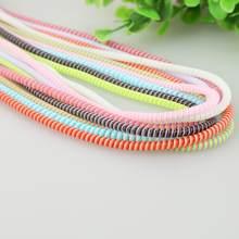 Protetor de corda de cabo de fio de telefone 1.4m anti-break primavera proteger corda para cabo de carregamento usb fone de ouvido dados enrolador plástico 8 cor