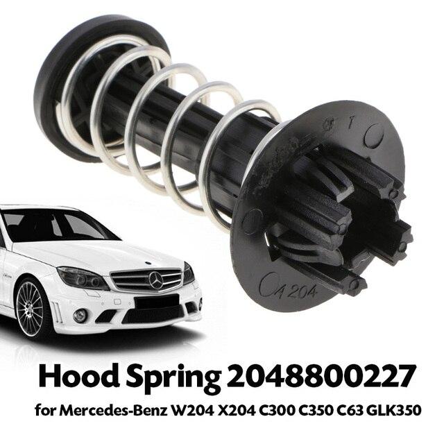 車のボンネット春修理されたフードエンジンカバーロッドストメルセデス W204 X204 C250/300/350/63 e250/300/350 GLK250/300