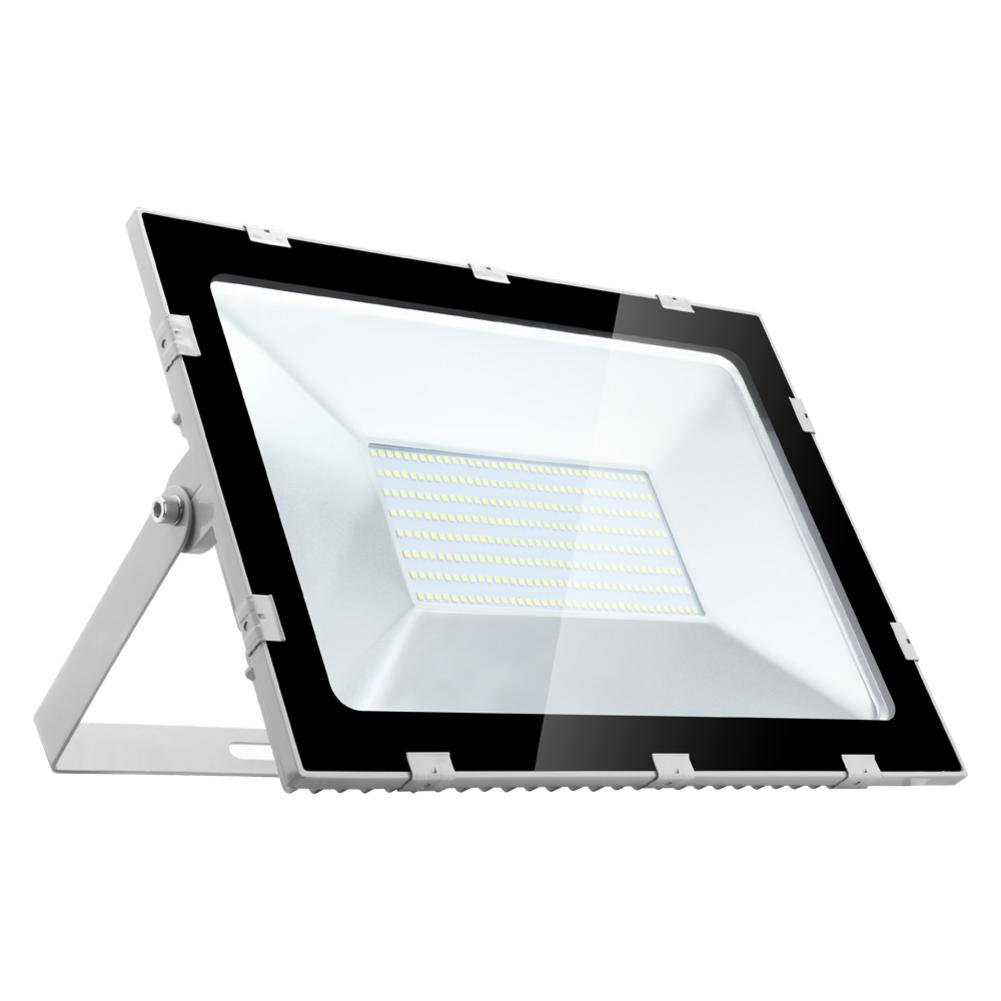 2PCS Ultrathin LED Flood Light 200W IP65 220V LED Spotlight Refletor Outdoor Lighting Wall Lamp Floodlight Cool White Ordinary