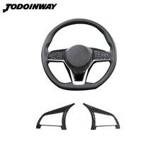 Autocollants de voiture pour Nissan Rogue Sport 2021 Versa X TRAIL T32 Qashqai 2018, couverture de bouton de volant, accessoires dintérieur