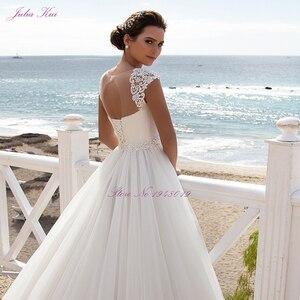 Image 4 - Julia Kui Stunning Tulle A line Hochzeit Kleid Mit Regelmäßige Strap Bodenlangen Hochzeit Kleid Und Elegante Schärpe