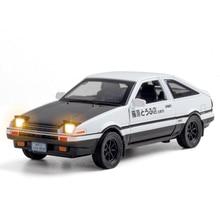 Escala 1:28 carro de brinquedo toyota inicial d ae86 metal brinquedo liga diecasts & veículos de brinquedo modelo de carro brinquedos em miniatura para crianças presentes