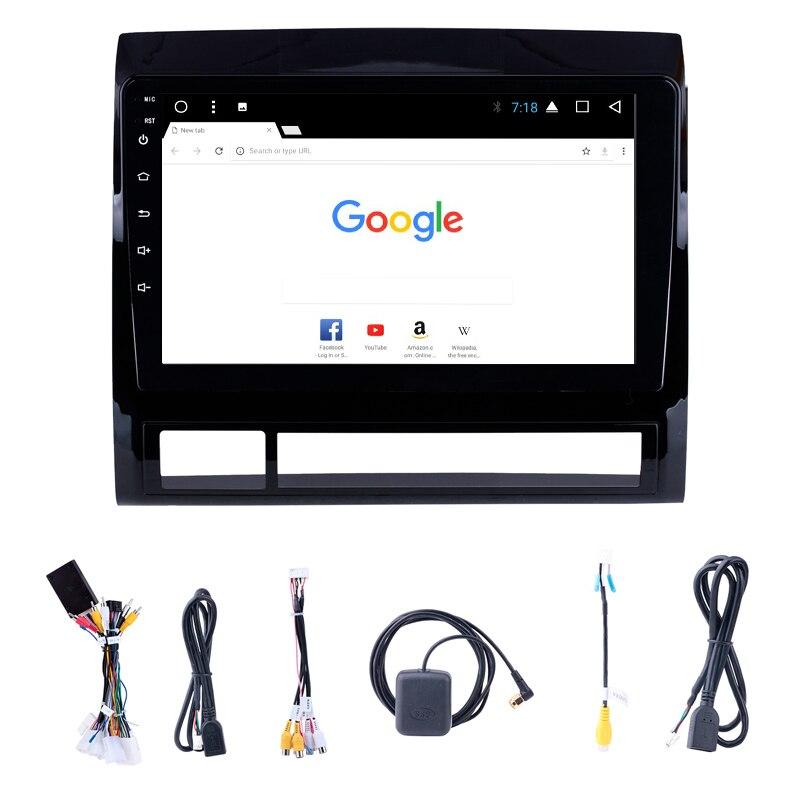 Подходит для Toyota TACOMA 2005-2013 2DIN 9 дюймов Android Bluetooth радио gps Автомобильная навигационная система
