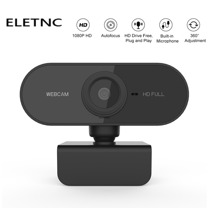 Webcam Mini Camera Full HD 1080P With Microphone USB Plug And Play Web Cam Video Call For PC MAC Laptop Desktop Gamer Webcast