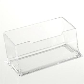 1PC biurko półka Box stojak wystawowy tworzywo akrylowe nowy przezroczysty pulpit wizytownik na karty biznesowe tanie i dobre opinie CN (pochodzenie) other Poziome Posiadacze posiadacze kart uwaga Z tworzywa sztucznego Kariery Miękki plastik