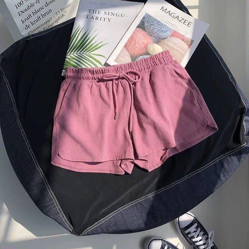 Summer Fashion Plus Size Women's Pajamas with Shorts Nightwear Loose Short Sleepwear Cotton Trouser Beach Sleep Bottoms Lounge