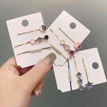 Korean version Ins  of the simple fashion pearl hairpin for women Hair Clip a word hairclip card bangs clip hair accessories